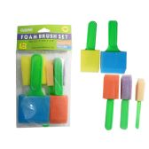 144 Units of 5pc Craft Foam Brushes Foam - Paint, Brushes & Finger Paint