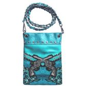 15 Units of Wholesale Double Gun Design Phone Purse Turquoise - Shoulder Bag/ Side Bag