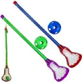 48 Units of PLASTIC LACROSSE STICK AND BALL SETS