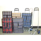 """10 Units of Foldable Detachable Shopping Bag on Wheel Cart 37"""" High - Bags Of All Types"""