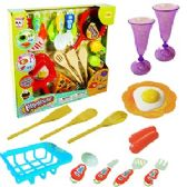 24 Units of 18 PIECE KITCHEN PLAY SETS - GIRLS TOYS