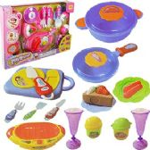 24 Units of 21 PIECE HAPPY PLAYHOUSE KITCHEN SETS - GIRLS TOYS
