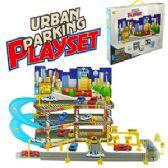 6 Units of URBAN CAR AND GARAGE SETS. - Cars, Planes, Trains & Bikes