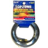 72 Units of 18FT COAXIAL CABLE BLACK SLEEVE