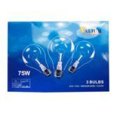 80 Units of 3PK 75W CLEAR LIGHT BULBS