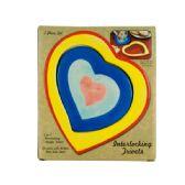 72 Units of Ceramic 2 in 1 Interlocking Heart Trivets - Coasters & Trivets