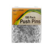 72 Units of Clear Push Pins - Push Pins and Tacks