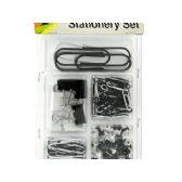 36 Units of Push Pins & Clips Stationery Set - Push Pins and Tacks