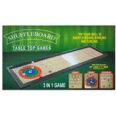 6 Units of 3 In 1 Shuffleboard Tabletop Game - Dominoes & Chess