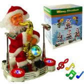 12 Units of Saxophone Playing Santa Claus w/ Lights & Music