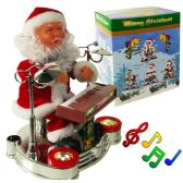 12 Units of Piano Playing Santa Claus With Lights And Muisc - Christmas Decorations