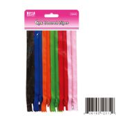 96 Units of Six Pack colored zipper - Sewing Supplies
