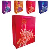 "144 Units of 3D Gift bag 12x5x16.5""/XL"