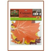 144 Units of 21pk cutouts leaves - Halloween & Thanksgiving