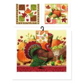 96 Units of Harvest Kitchen Towel - Halloween & Thanksgiving