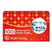 24 Units of 100L icicle multi UL - Christmas