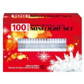 24 Units of 100L Clear light tray UL with White wire - Christmas