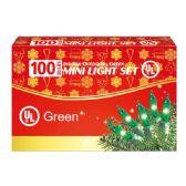24 Units of 100L green light comp. UL - Christmas