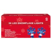 36 Units of 35L LED snowflake blue - Christmas