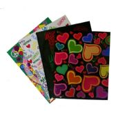 192 Units of 2 POCKET PORTFOLIO 250 GSM LAMINATED Love & Peace - Folders and Report Covers