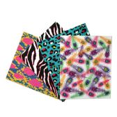 192 Units of 2 POCKET PORTFOLIO 250 GSM LAMINATED Animal Prints - Folders and Report Covers