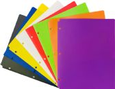 96 Units of 2 POCKET POLY PORTFOLIO COLORS - Folders and Report Covers