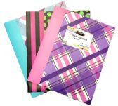 96 Units of 2 POCKET POLY PORTFOLIO Designer - Folders and Report Covers