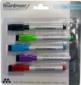 96 Units of Dry Erase Markers with Eraser Caps 5 CT Assorted Colors