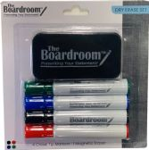 48 Units of Dry Erase Marker Set with 4 Broad Chisel Tip Makrs & Magnetic Eraser Assorted colors - Markers and Highlighters