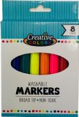 96 Units of 8 CT Washable Broad Tip Markers