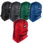 "24 Units of BACKPACK 17"" WITH PADDED BACK, MESH PADDED STRAPS, INSIDE MESH POCKET - Backpacks 17"""