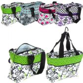 24 Units of Cooler Tote Insulated with Zipper Close Simply Black & White