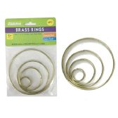 72 Units of 4 Piece Craft Brass Rings - CRAFT KITS