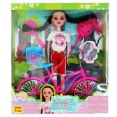 12 Units of 8 PIECE TRENDY'S DOLL WITH BICYCLE PLAYSETS. - Dolls
