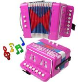 12 Units of CHILD'S ACCORDION - PINK. - Musical