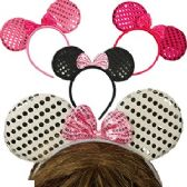 72 Units of SEQUINED MOUSE EAR HEADBANDS. - Costumes & Accessories