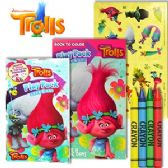 48 Units of DREAMWORK'S TROLLS PLAY PACKS - GRAB AND GO. - Coloring Books