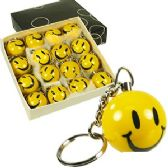 384 Units of SOLID RESIN SMILEY FACE KEYCHAINS.
