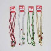 96 Units of Necklace Beaded - Christmas Novelties