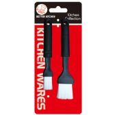 48 Units of Two Piece BBQ Brush - BBQ supplies