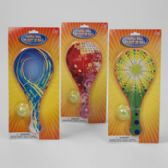 96 Units of Paddle Ball W/light Up Ball 3asst Prints