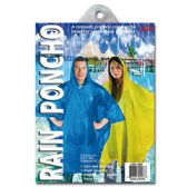 72 Units of Adult poncho - Umbrellas & Rain Gear