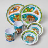 144 Units of Dinnerware Melamine Noahs Ark Kids - PLASTIC BOWLS/PLATES
