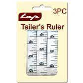 72 Units of 3pc Tailor ruller set