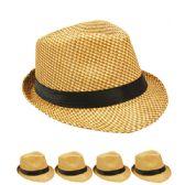 24 Units of TAN AND BROWN COLOR FEDORA HAT - Fedoras, Driver Caps & Visor