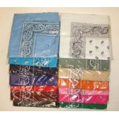 144 Units of Assorted Bandanas Sold by the dozen by color or assorted. - Bandanas