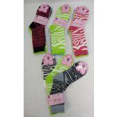 120 Units of Ladies Crew Socks 9-11 [Zebra]