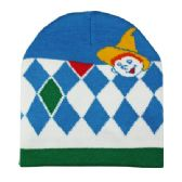 72 Units of WINTER BEANIE WITH BOY IN BLUE WHITE AND GREEN - Winter Beanie Hats