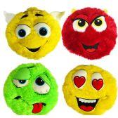 24 Units of Plush Colorful Furry Emojis - Pillow Sacks