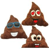 48 Units of Large Plush Poo Emojis